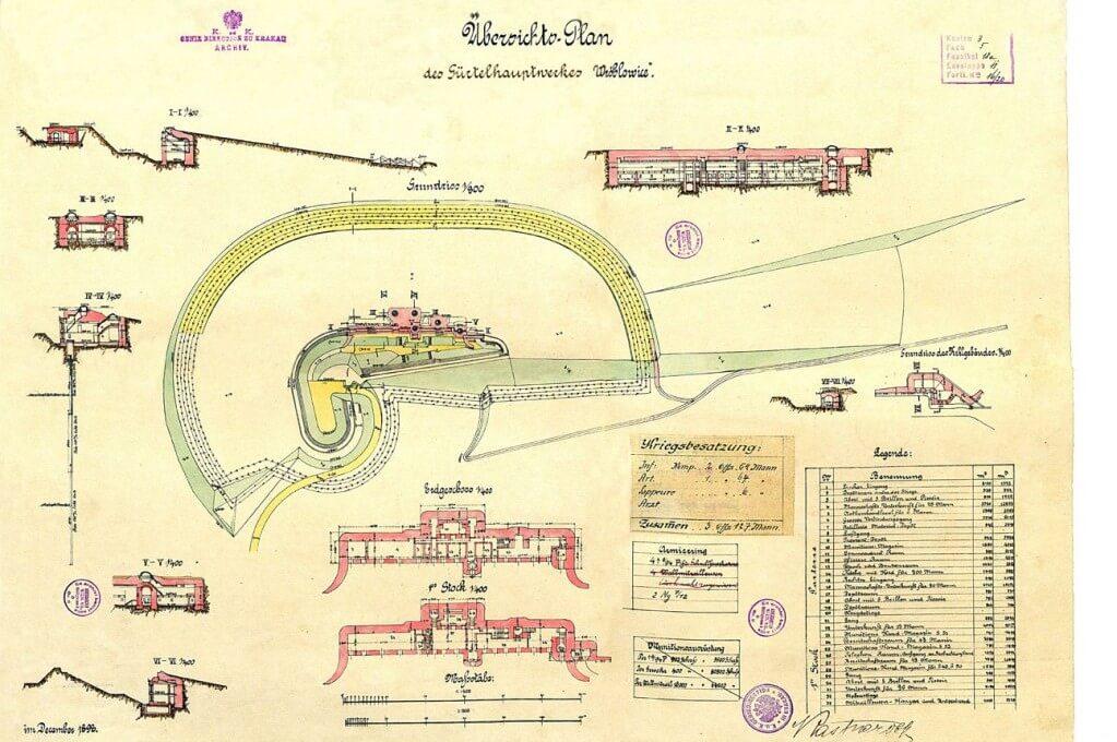 O Muzeum Spraw Wojskowych w prasie. Mapa Fortu Swoszowice / fot. Muzeum Spraw Wojskowych