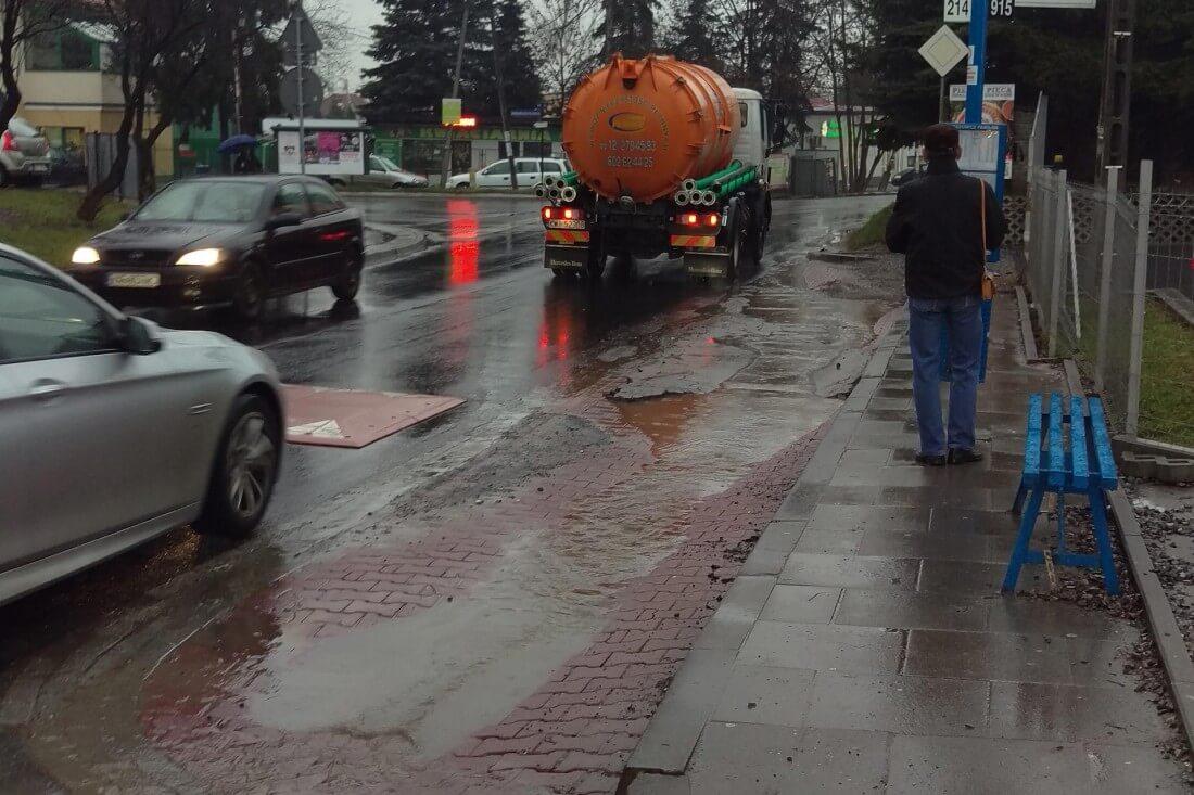 Przystanek autobusowy przy ul. Myślenickiej