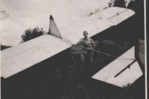 Andrzej Pamuła podczas szkolenia szybowcowego