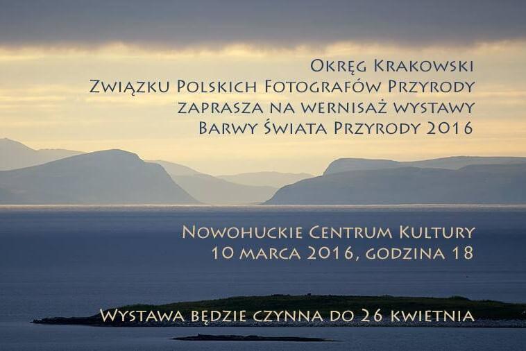 """Wystawa """"Barwy Świata Przyrody 2016"""". Plakat"""