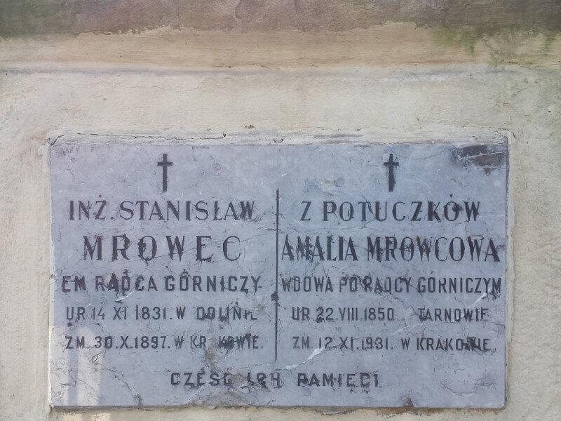 Historia rodziny Mrowec. Stanisław Mrowec grobowiec