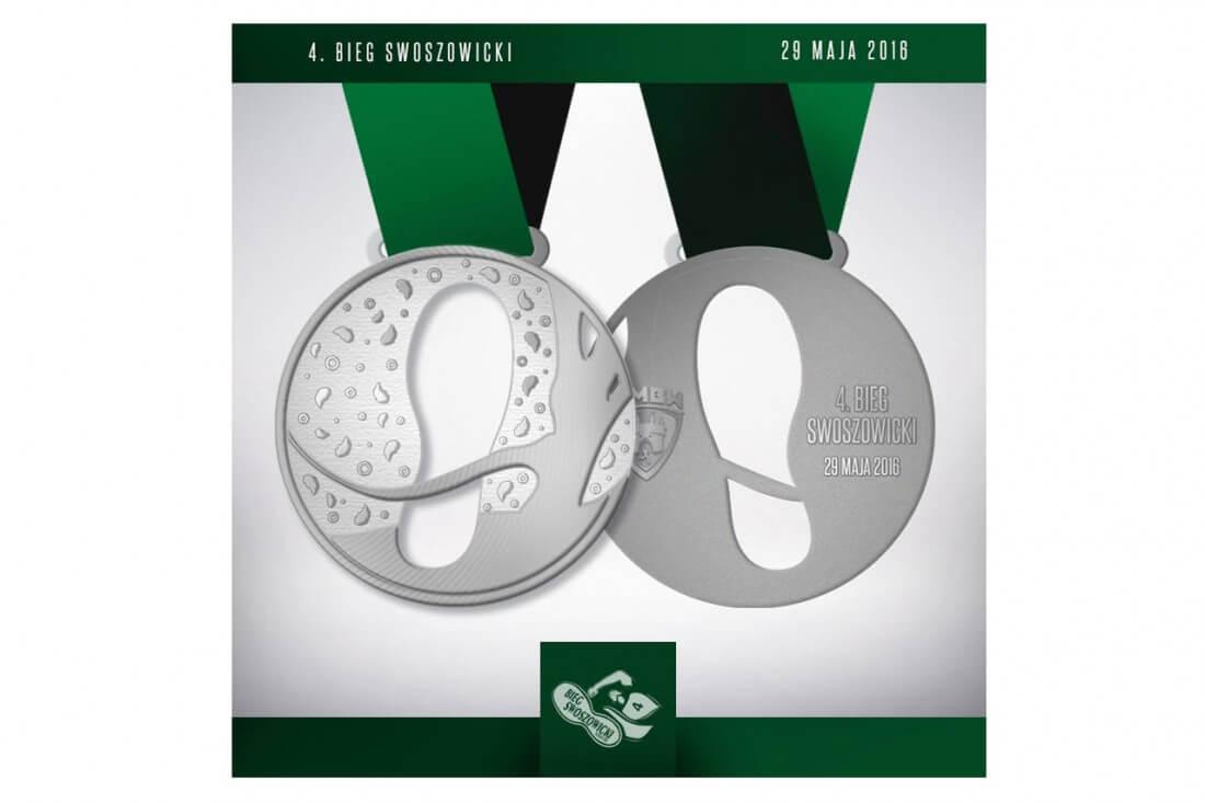 Projekt medali na 4 Bieg Swoszowicki