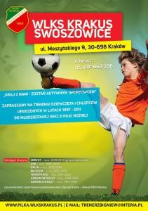 Rekrutacja do sekcji piłkarskiej WLKS Krakus wiosna 2016