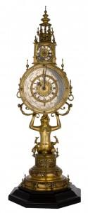 Zegary w kształcie monstrancji.