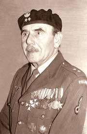 Stanisław Wasiuczyński w mundurze Polskich Sił Zbrojnych