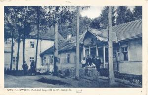 Kartka pocztowa Swoszowice Zakład Kąpieli Siarczanych. Lata 1940- 1945