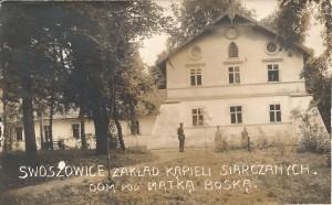 Karta pocztowa - Swoszowice. Zakład Kąpieli Siarczanych. Dom pod Matką Boską