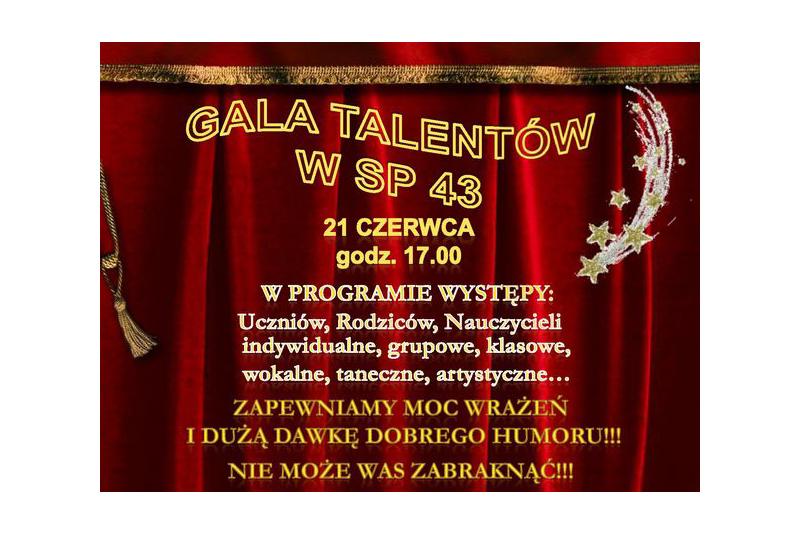 Gala Talentów w SP 43 Kraków Swoszowice