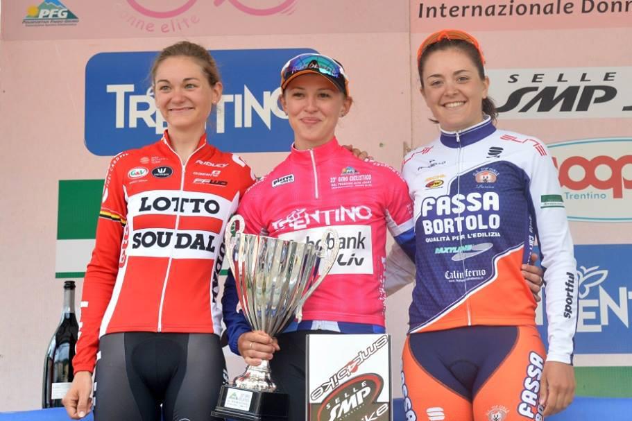 Katarzyna Niewiadoma zwycięża Giro del Treninto Donne / fot. ze źródła WLKS Krakus BBC Czaja