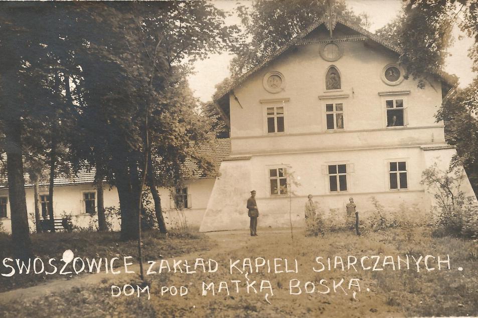 Widokówki ze Swoszowic. Zakład Kąpieli Siarczanych. Dom pod Matką Boską.