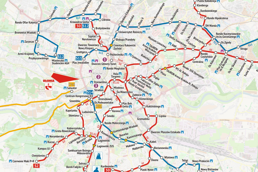 Przygotowania do ŚDM mapa