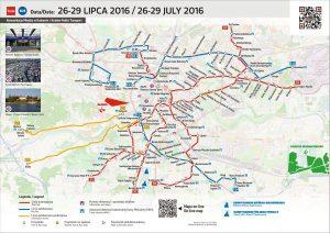 Mapka informacyjna 26-29 lipca 2016 / fot. Magiczny Kraków