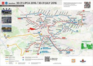 Mapka informacyjna 30-31 lipca/ fot. Magiczny Kraków
