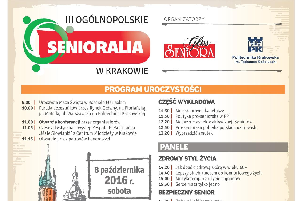 III Ogólnopolskie Senioralia w Krakowie