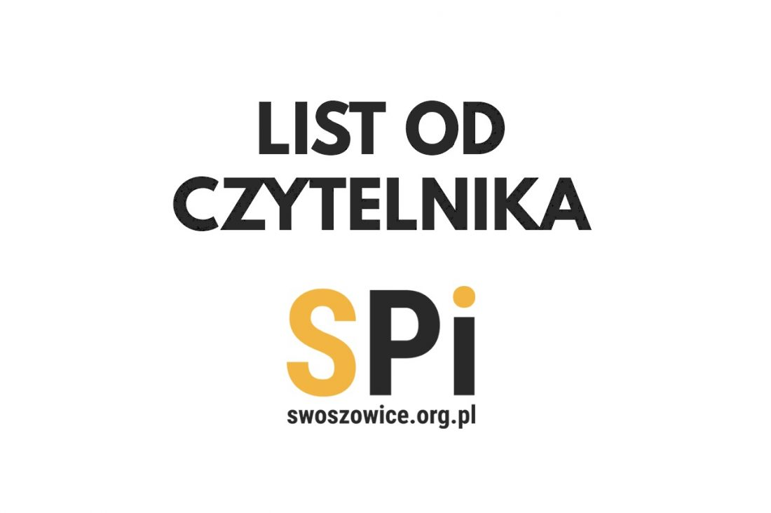 list od Czytelnika Swoszowickiego Portalu Informacyjnego