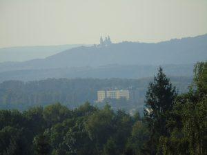 Widok na Bielany z ul. Grawerskiej