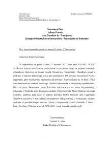Wniosek dot. zmian komunikacyjnych na terenie Dzielnicy X Swoszowice