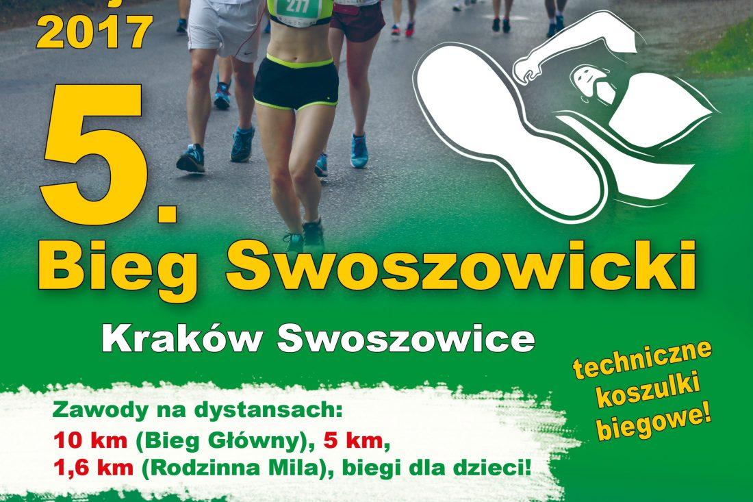 5 Bieg Swoszowicki / plakat ITMBW Kraków