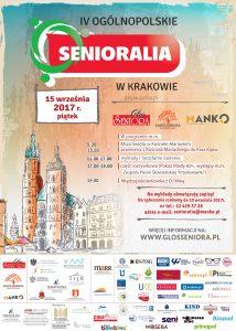 Plakat IV Ogólnopolskie Senioralia w Krakowie