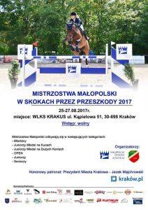 Mistrzostwa Małopolski w skokach przez przeszkody 2017 / fot. WLKS Krakus