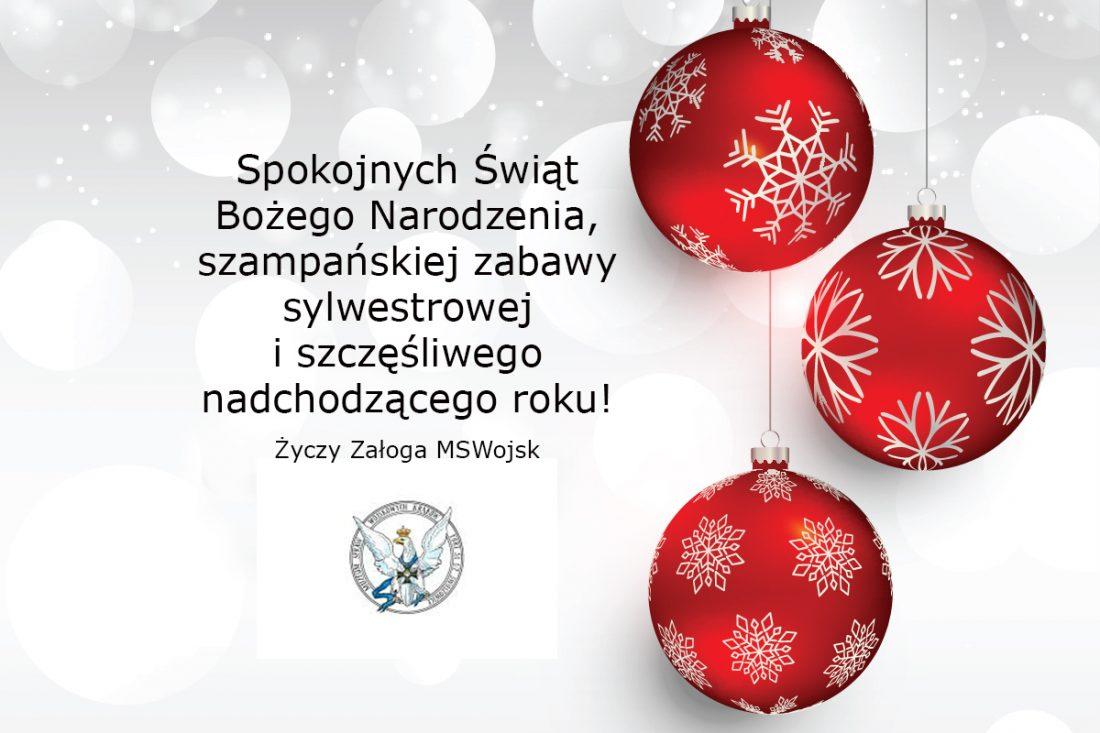 Życzenia świąteczno-noworoczne / Muzeum Spraw Wojskowych