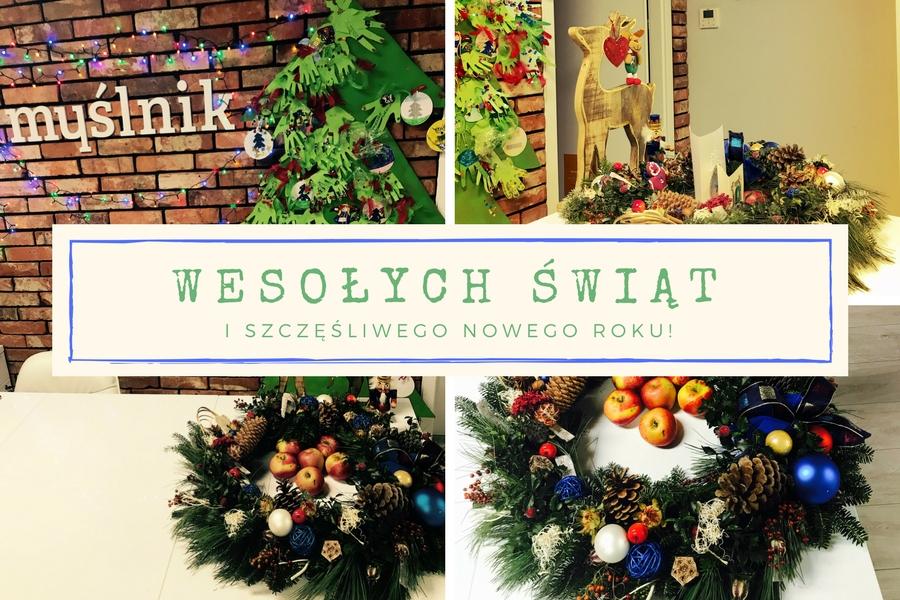 Życzenia świąteczne od Myślnik Kreatywna Edukacja