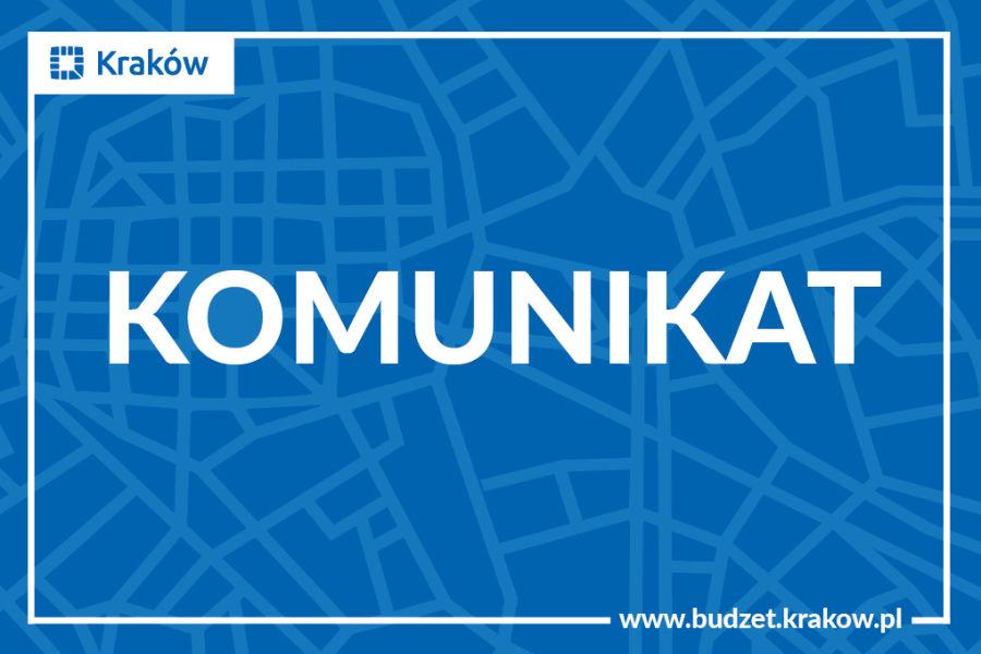 Budżet Obywatelski Miasta Krakowa 2018 - komunikat