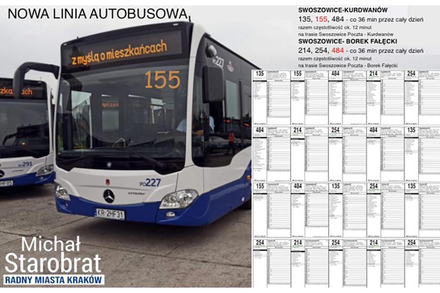 Nowa linia autobusowa 155