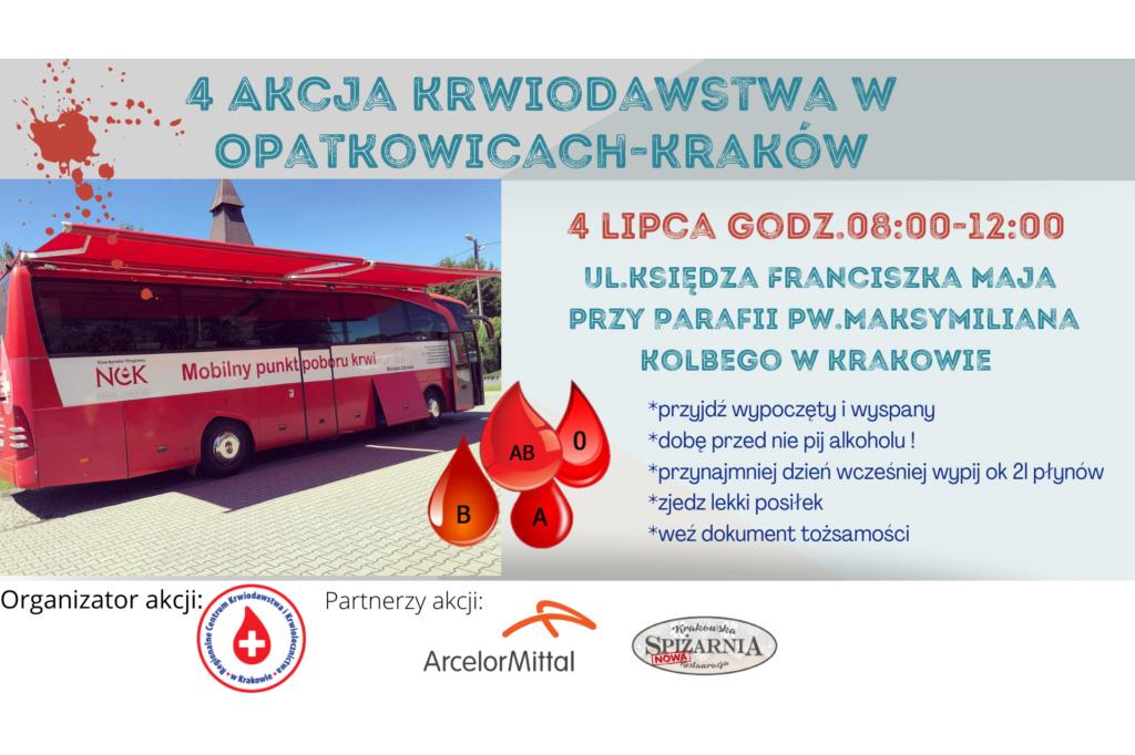 4 akcja krwiodawstwa w Krakowie Opatkowicach